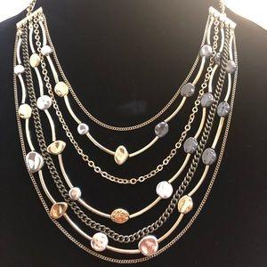 Custom made gold/metallic necklace